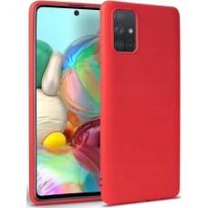 Чехол для Samsung Galaxy A51 цвет красный силиконовый