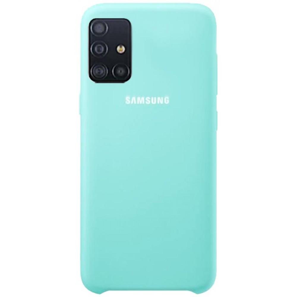 Чехол для Samsung Galaxy A31 Soft Touch бирюзовый