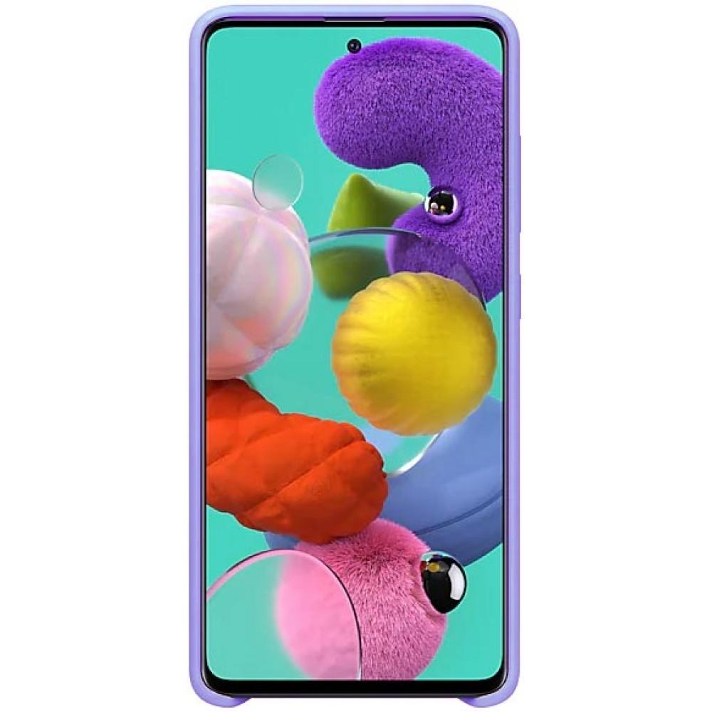 Чехол для Samsung Galaxy A31 Soft Touch лиловый