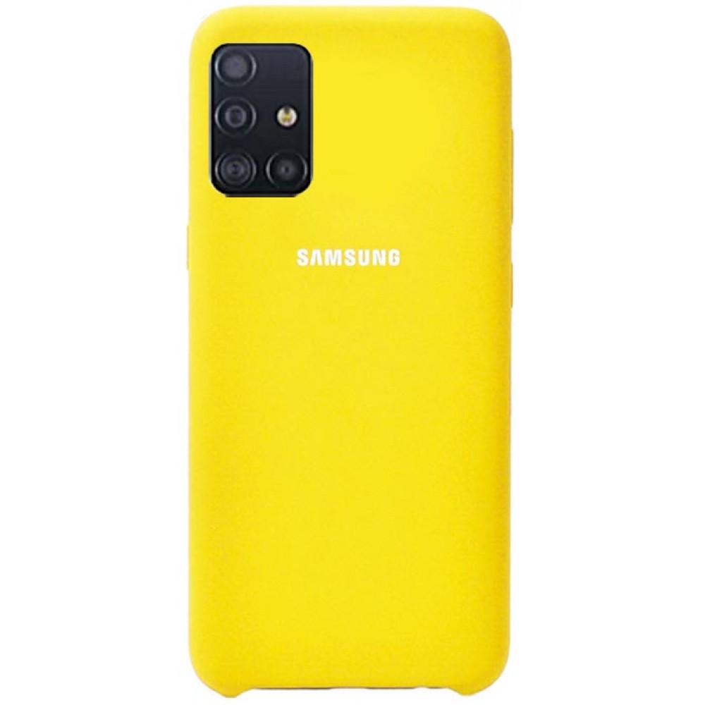 Чехол для Samsung Galaxy A51 Soft Touch желтый
