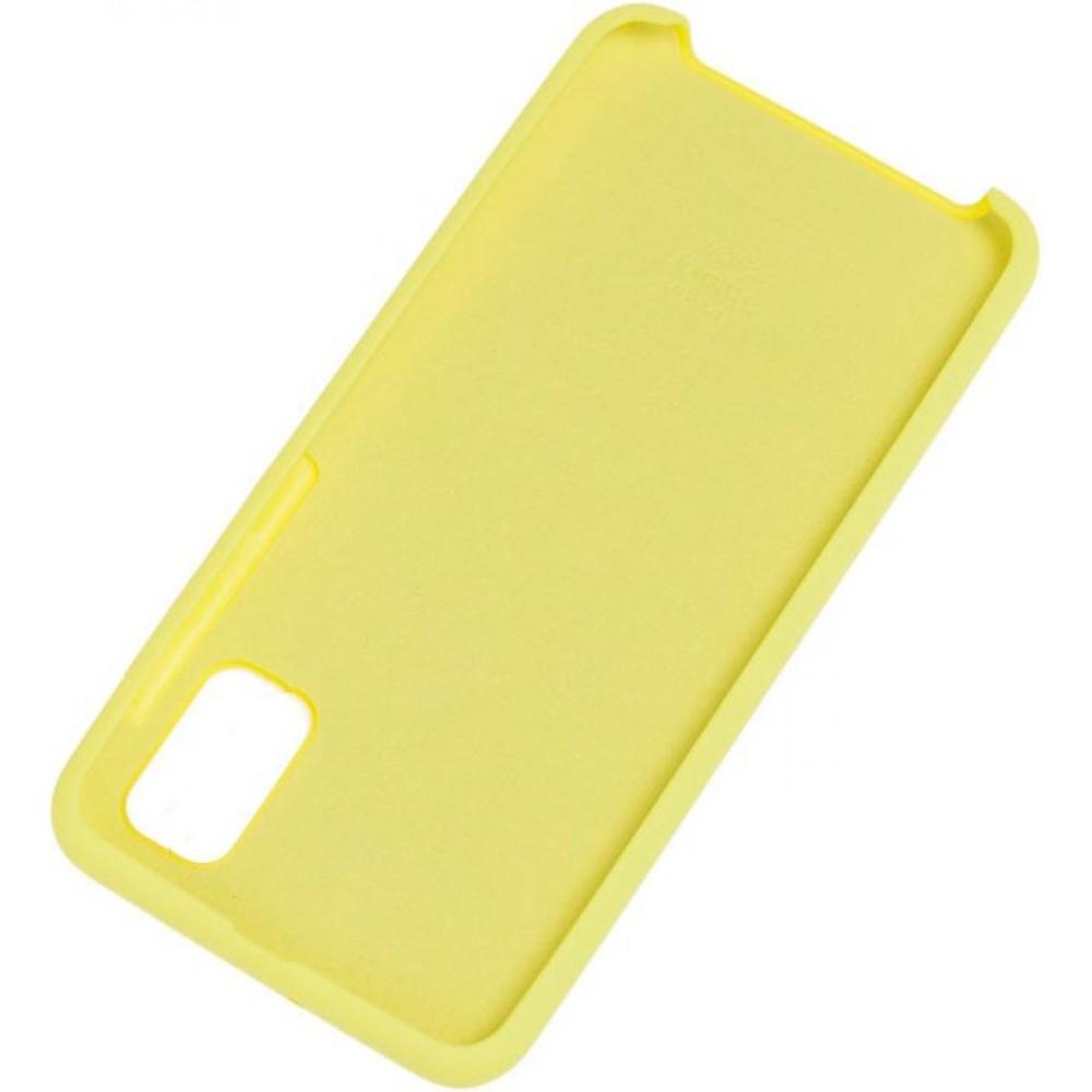 Чехол для Samsung Galaxy A31 Soft Touch желтый