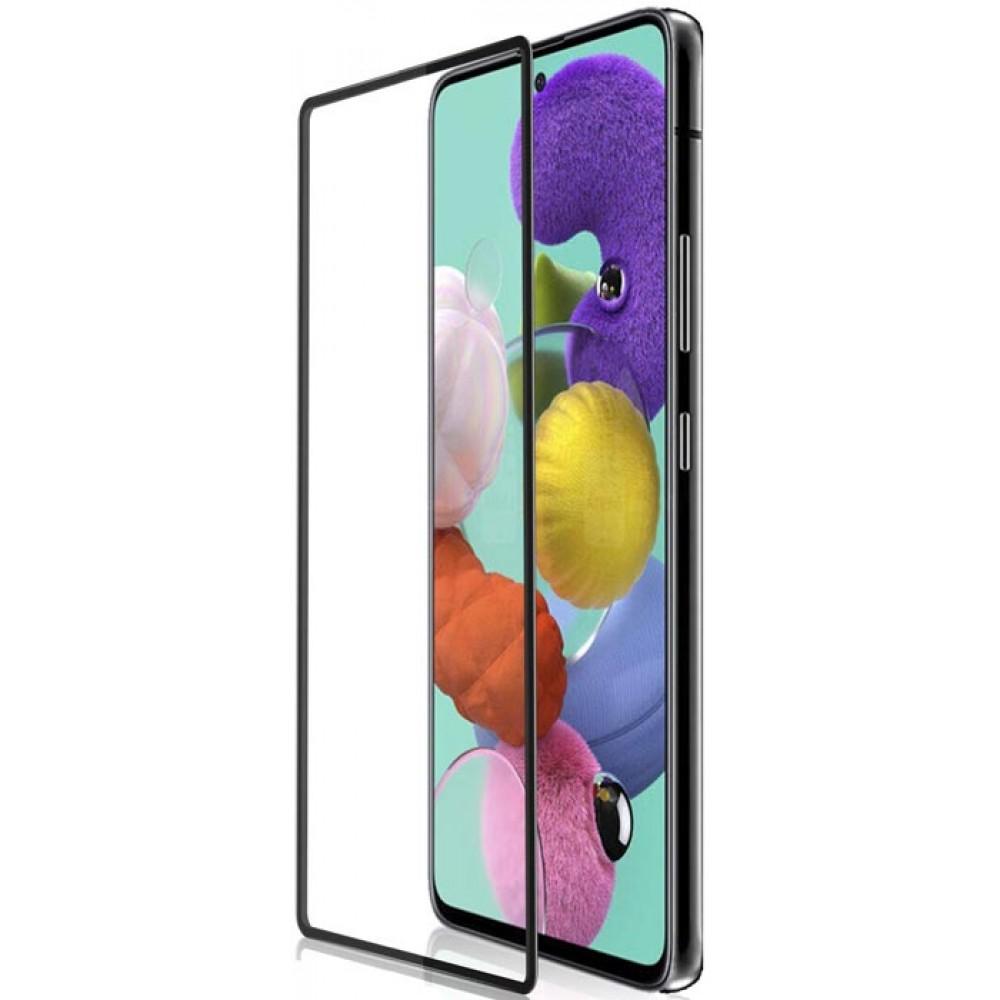 Стекло для Samsung Galaxy A51 с черной рамкой