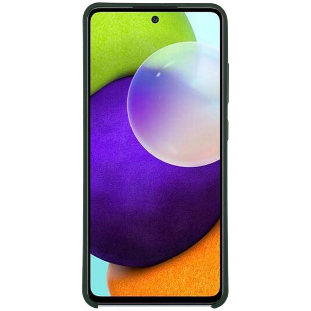 Чехол для Samsung Galaxy A52 4G Soft Touch темно-зеленый
