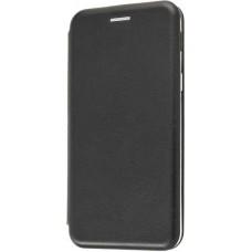 Чехол на Samsung Galaxy A6 2018 кожаный черный