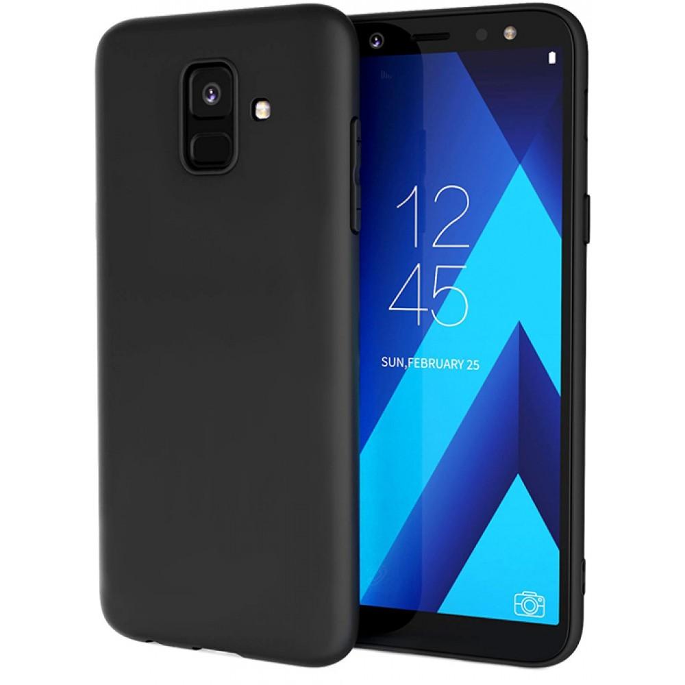 Чехол на Samsung Galaxy A6 2018 силиконовый черный