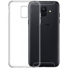 Чехол на Samsung Galaxy A6 2018 силиконовый прозрачный