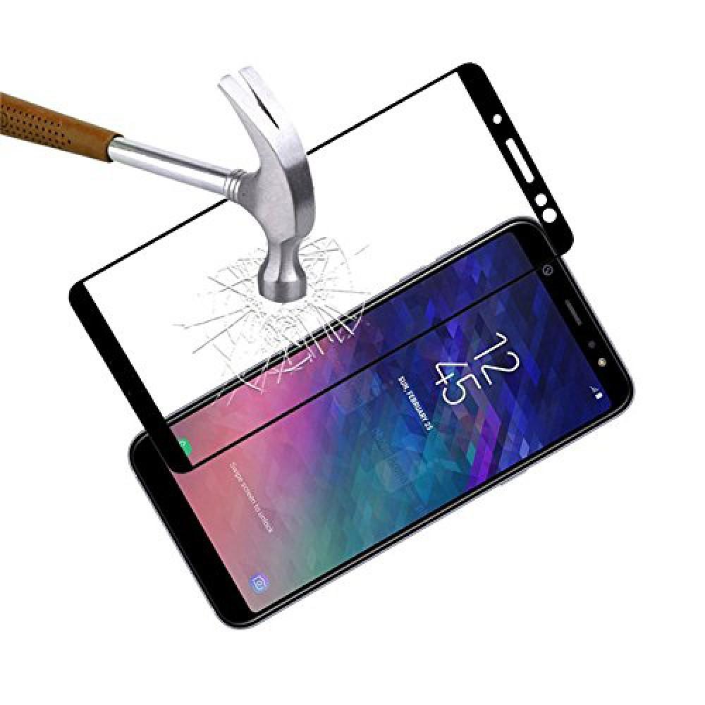 Стекло на Samsung Galaxy A6 с черной рамкой
