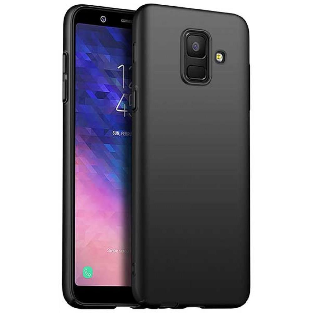 Чехол для Samsung Galaxy A6 Plus силиконовый черный