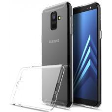 Чехол на Samsung Galaxy A6+ силиконовый прозрачный