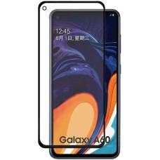 Стекло для Samsung Galaxy A60 с черной рамкой