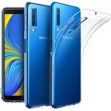 Чехол для Samsung Galaxy A7 2018 силиконовый прозрачный