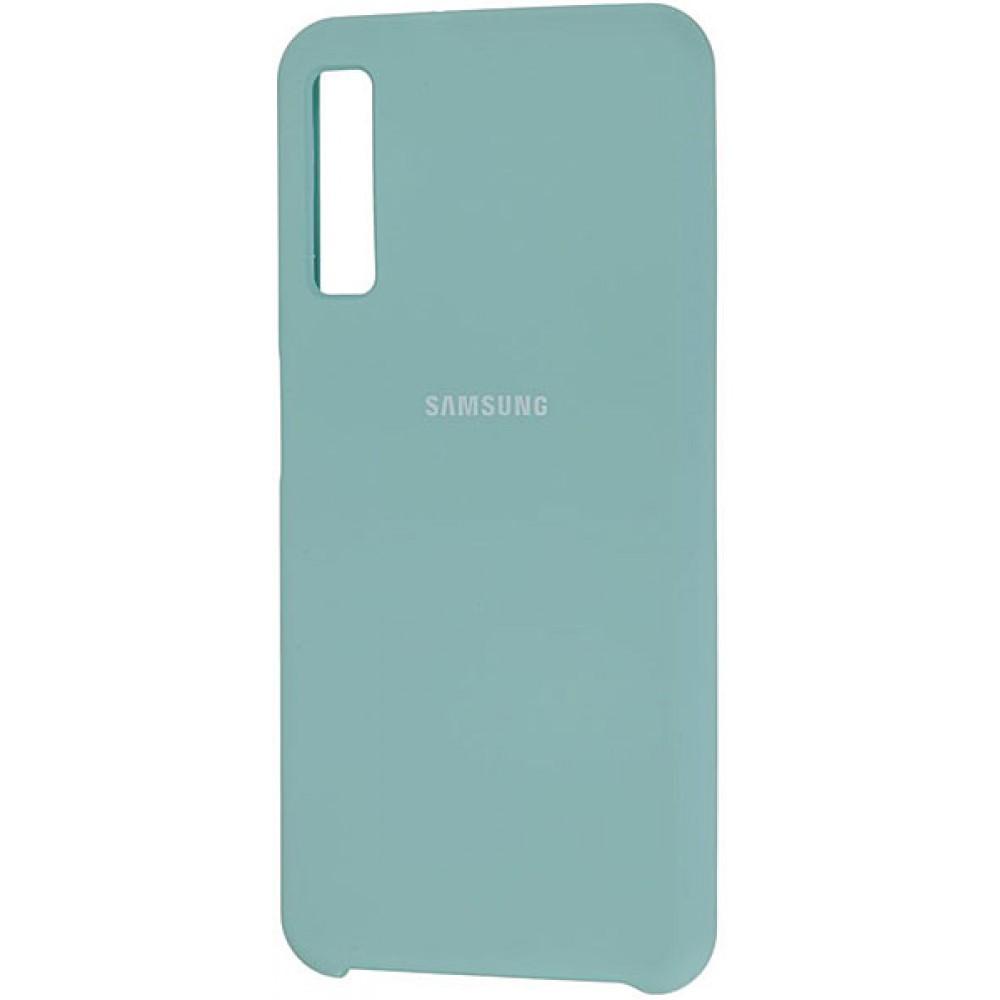 Чехол для Samsung Galaxy A7 2018 Soft Touch бирюзовый