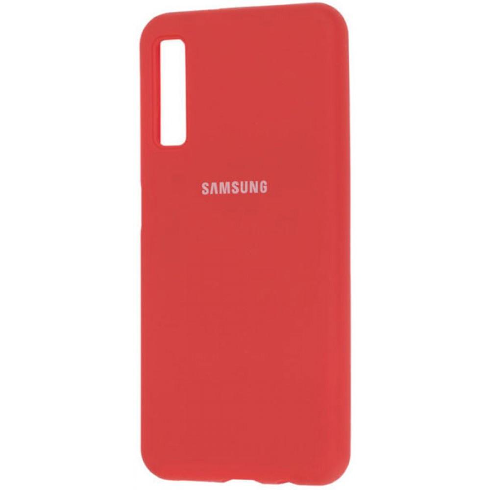 Чехол для Samsung Galaxy A7 2018 Soft Touch красный