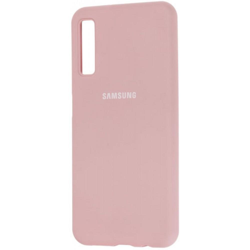 Чехол для Samsung Galaxy A7 2018 Soft Touch розовый