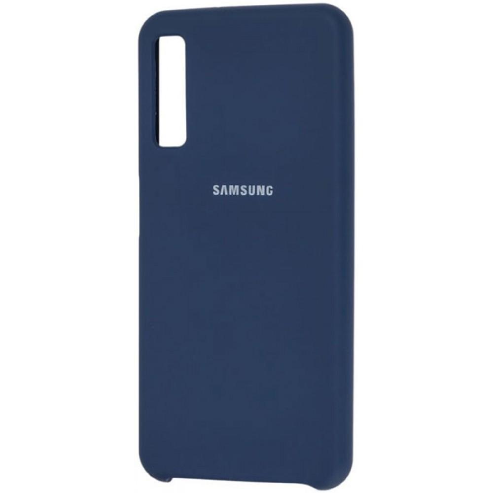 Чехол для Samsung Galaxy A7 2018 Soft Touch темно-синий