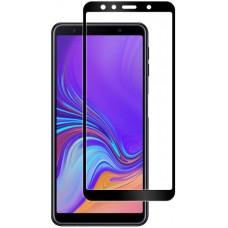 Стекло для Samsung Galaxy A7 2018 с черной рамкой