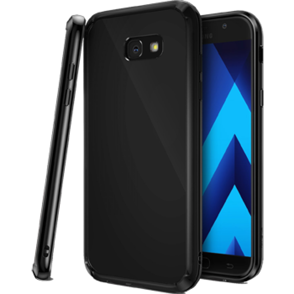 Чехол для Samsung Galaxy A7 (2017), Силиконовый бампер черный