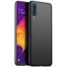 Чехол для Samsung Galaxy A70, Силиконовый бампер черный