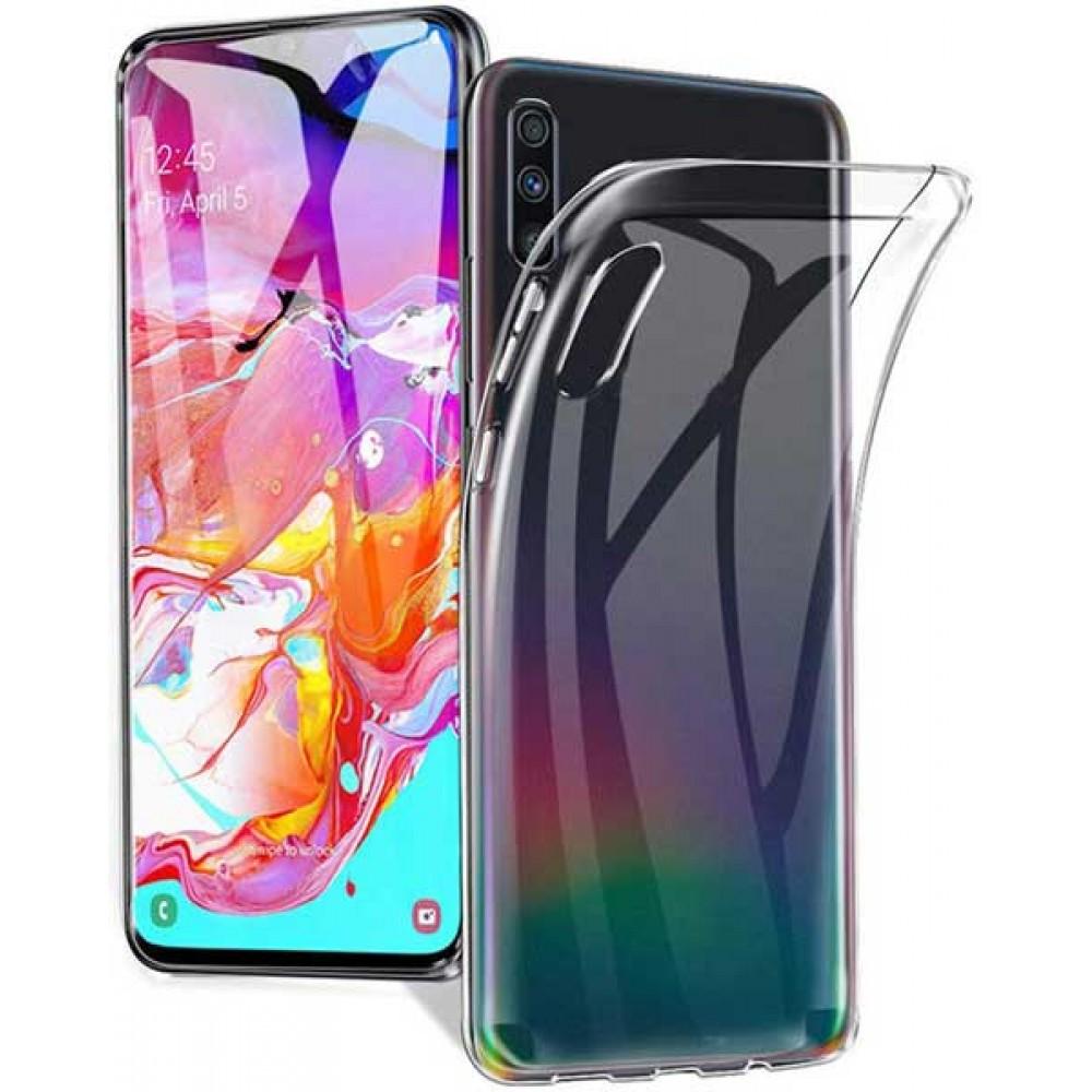 Чехол для Samsung Galaxy A70, Силиконовый бампер прозрачный