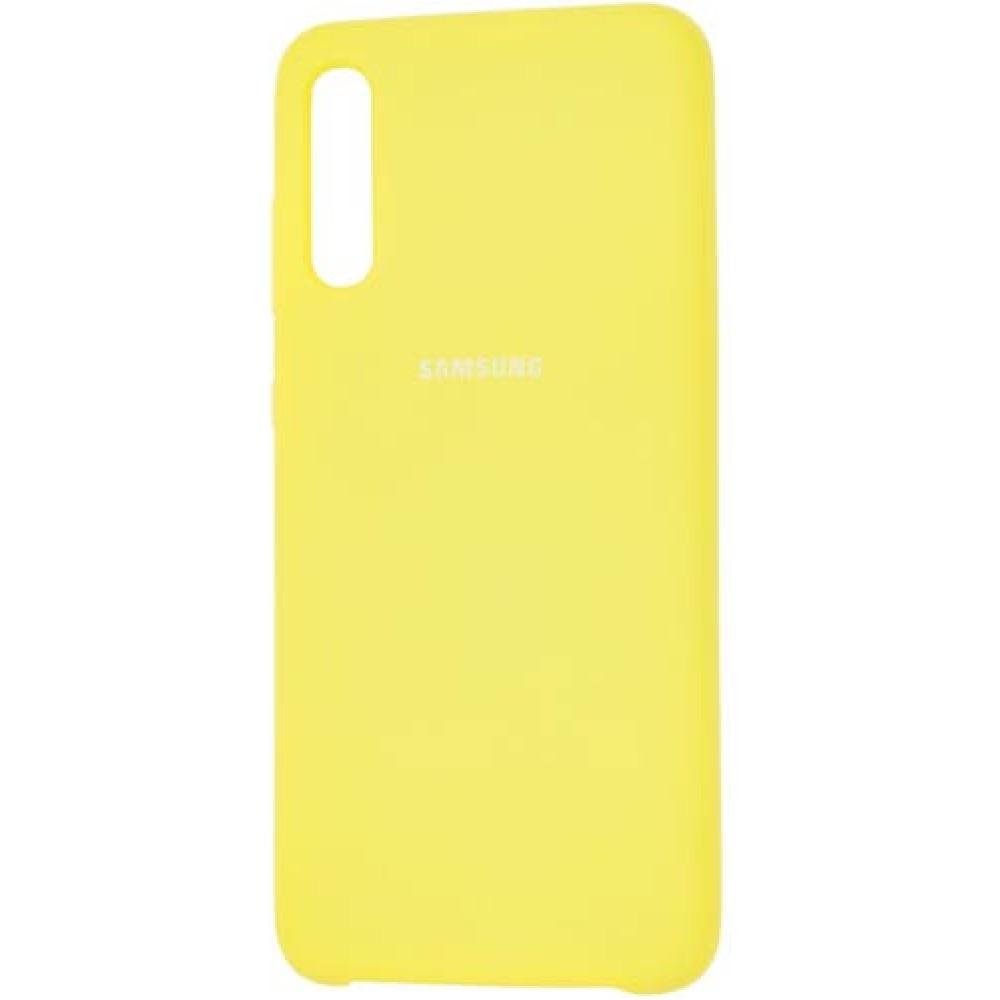 Чехол для Samsung Galaxy A70 Soft Touch желтый