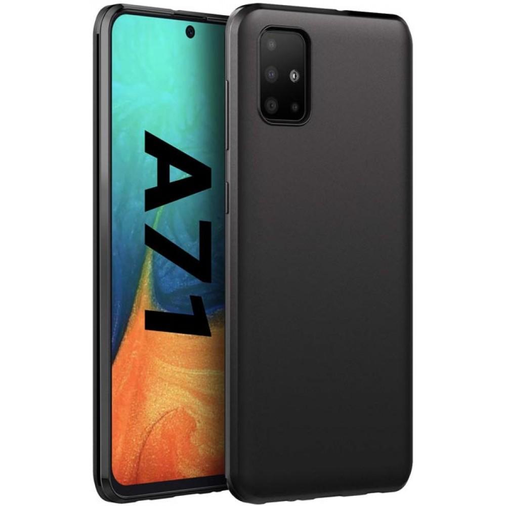 чехол для Samsung Galaxy A71 черный силиконовый аксессуары для гэлакси а71