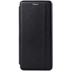 Чехол для Samsung Galaxy A71 кожаный черный