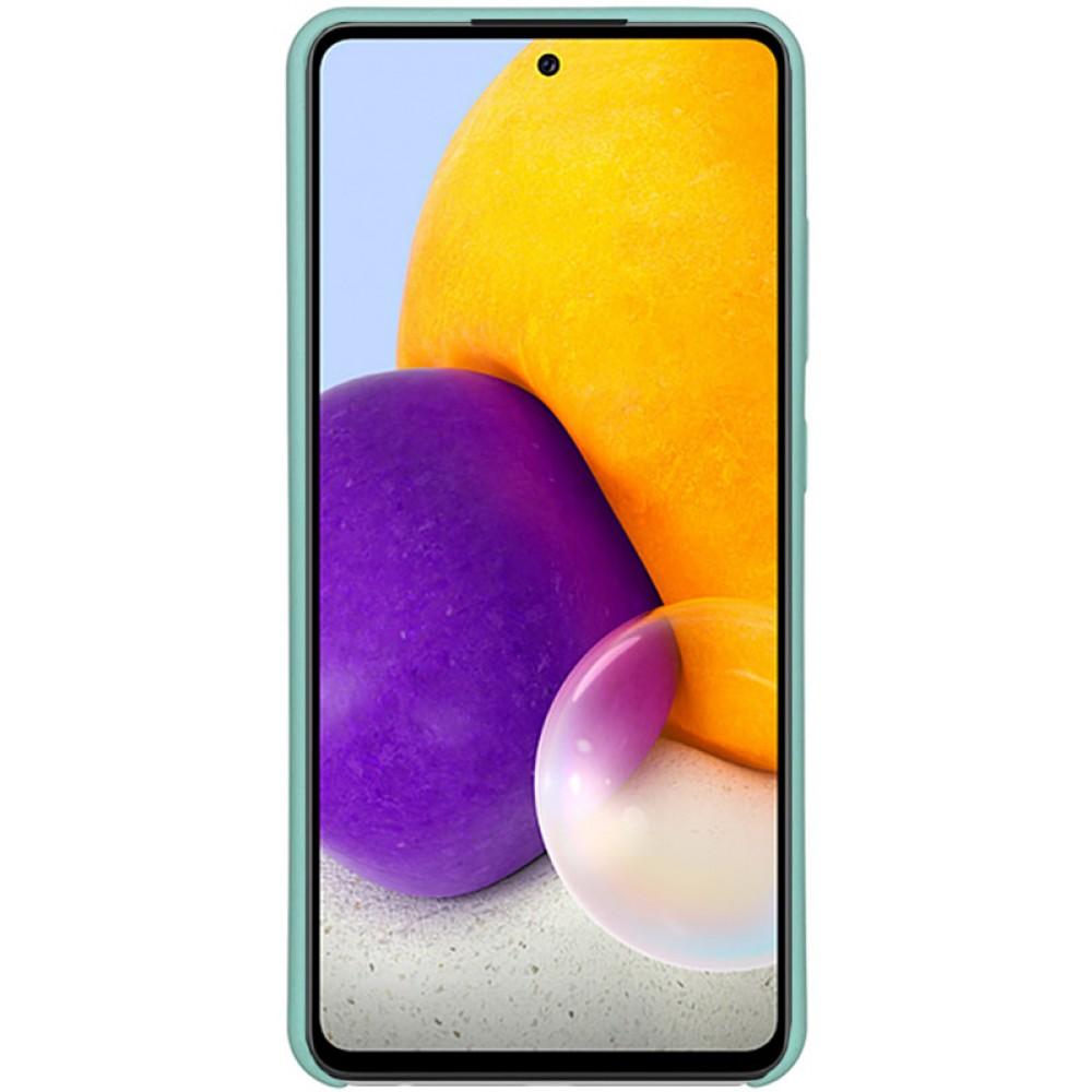Чехол для Samsung Galaxy A72 с Soft Touch покрытием бирюзовый