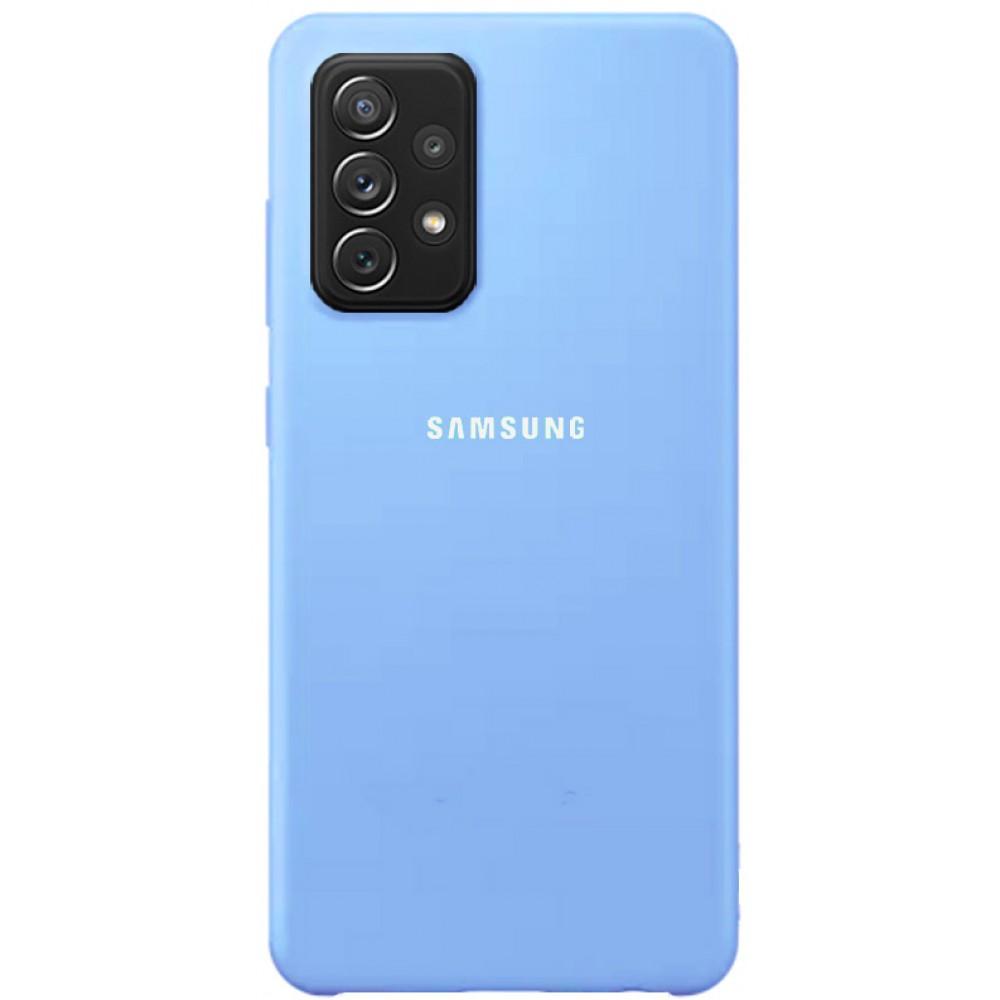 Чехол для Samsung Galaxy A72 с Soft Touch покрытием голубой