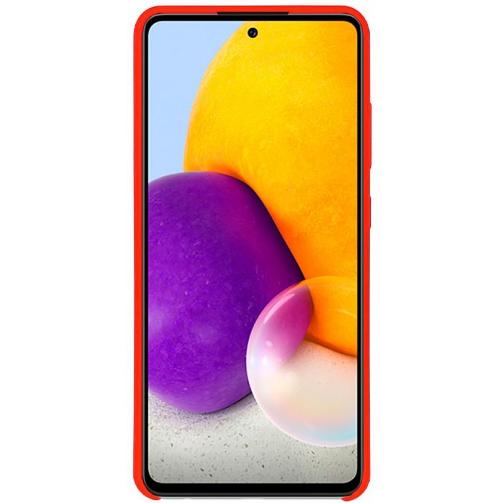 Чехол для Samsung Galaxy A72 с Soft Touch покрытием красный