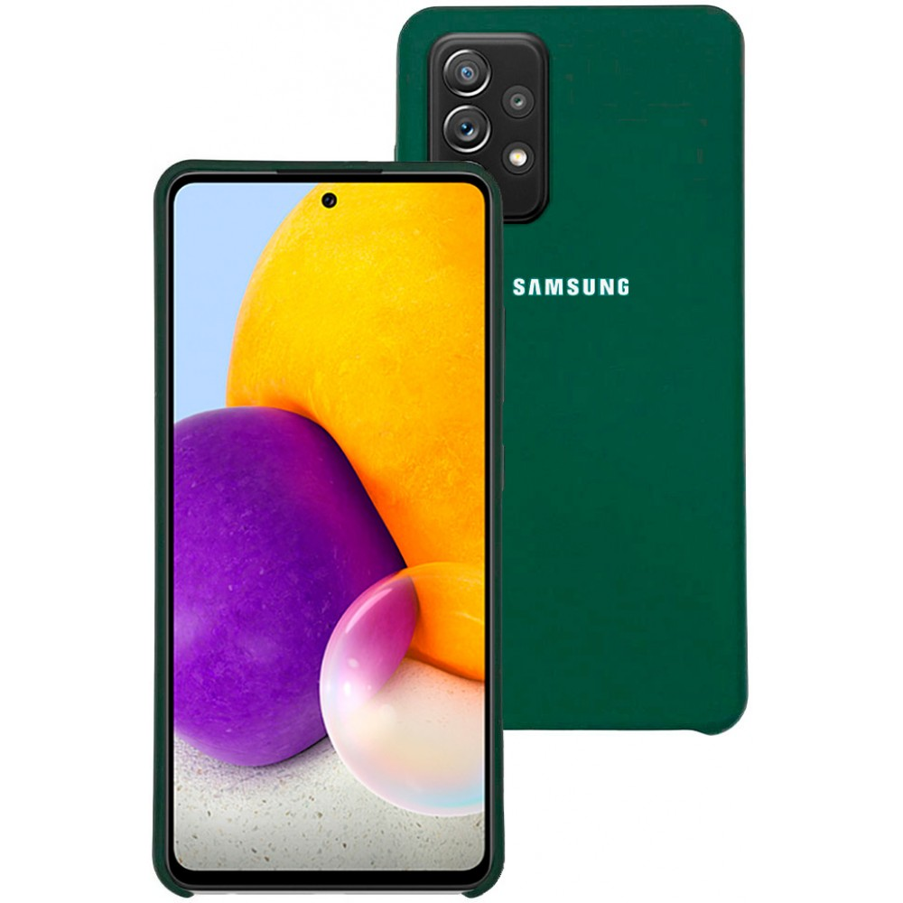 Чехол для Samsung Galaxy A72 с Soft Touch покрытием темно-зеленый