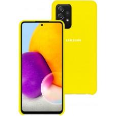 Чехол для Samsung Galaxy A72 с Soft Touch покрытием желтый
