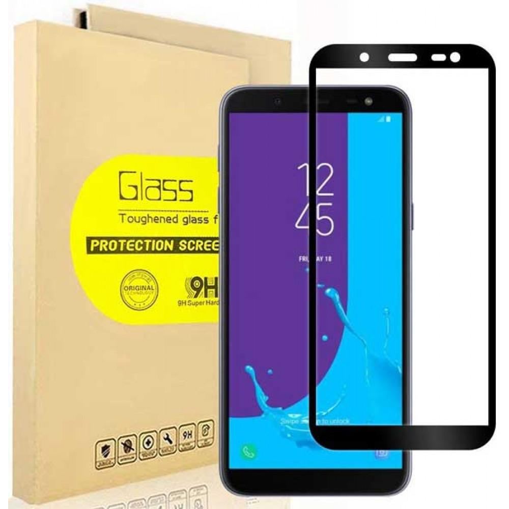 Стекло для Samsung Galaxy J6 2018 с черной рамкой