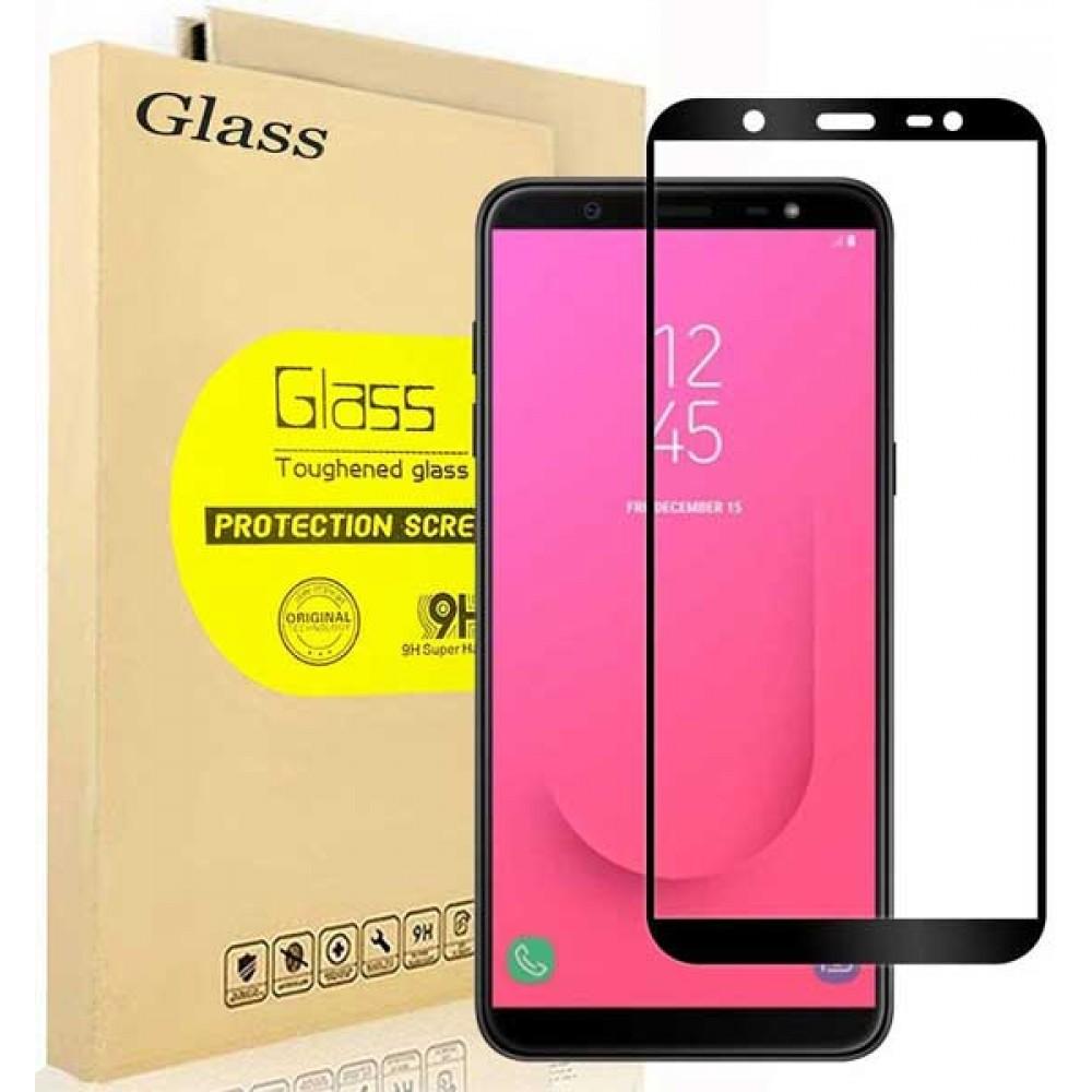 Стекло для Samsung Galaxy J8 2018 с черной рамкой