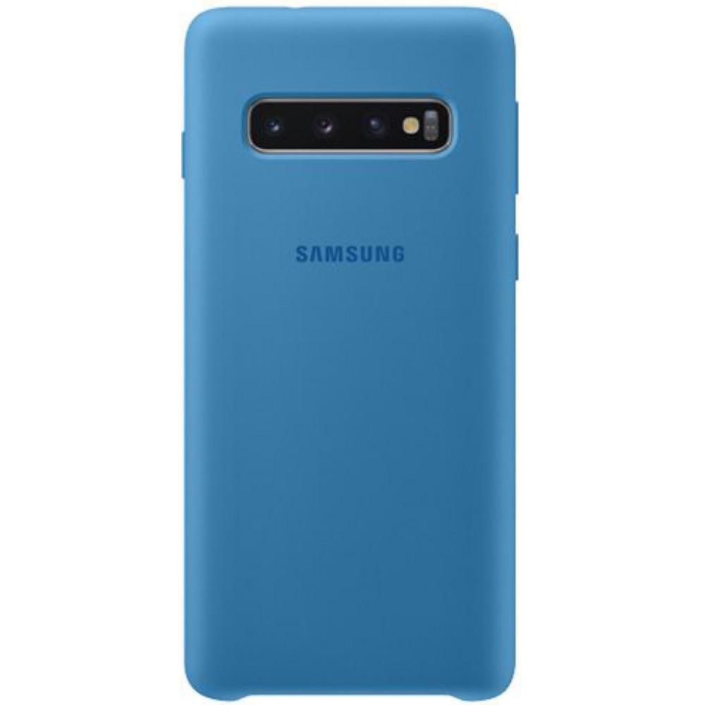 Чехол для Samsung Galaxy S10 Soft Touch синий