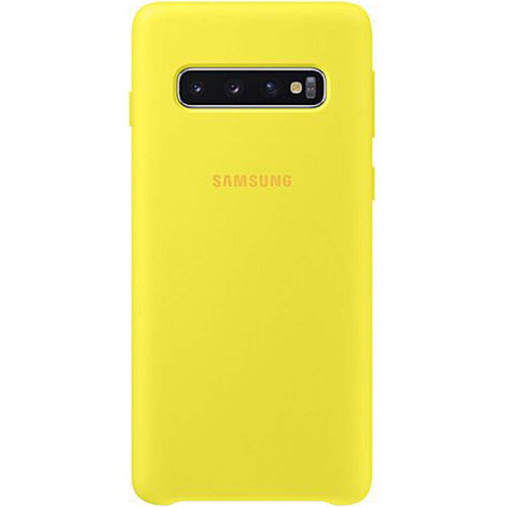 Чехол для Samsung Galaxy S10 Soft Touch желтый