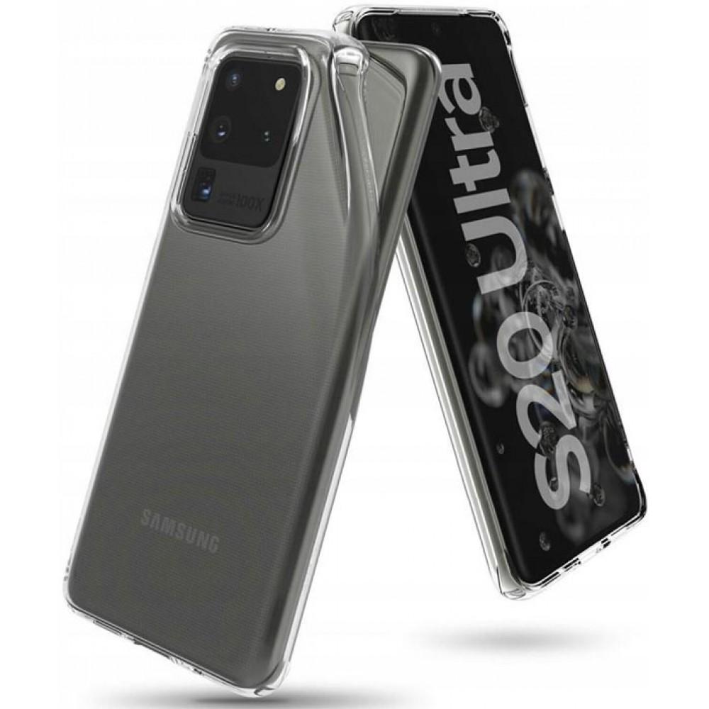 Чехол для Samsung Galaxy S20 Plus Ultra прозрачный силиконовый