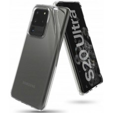 Чехол для Samsung Galaxy S20 Ultra прозрачный силиконовый