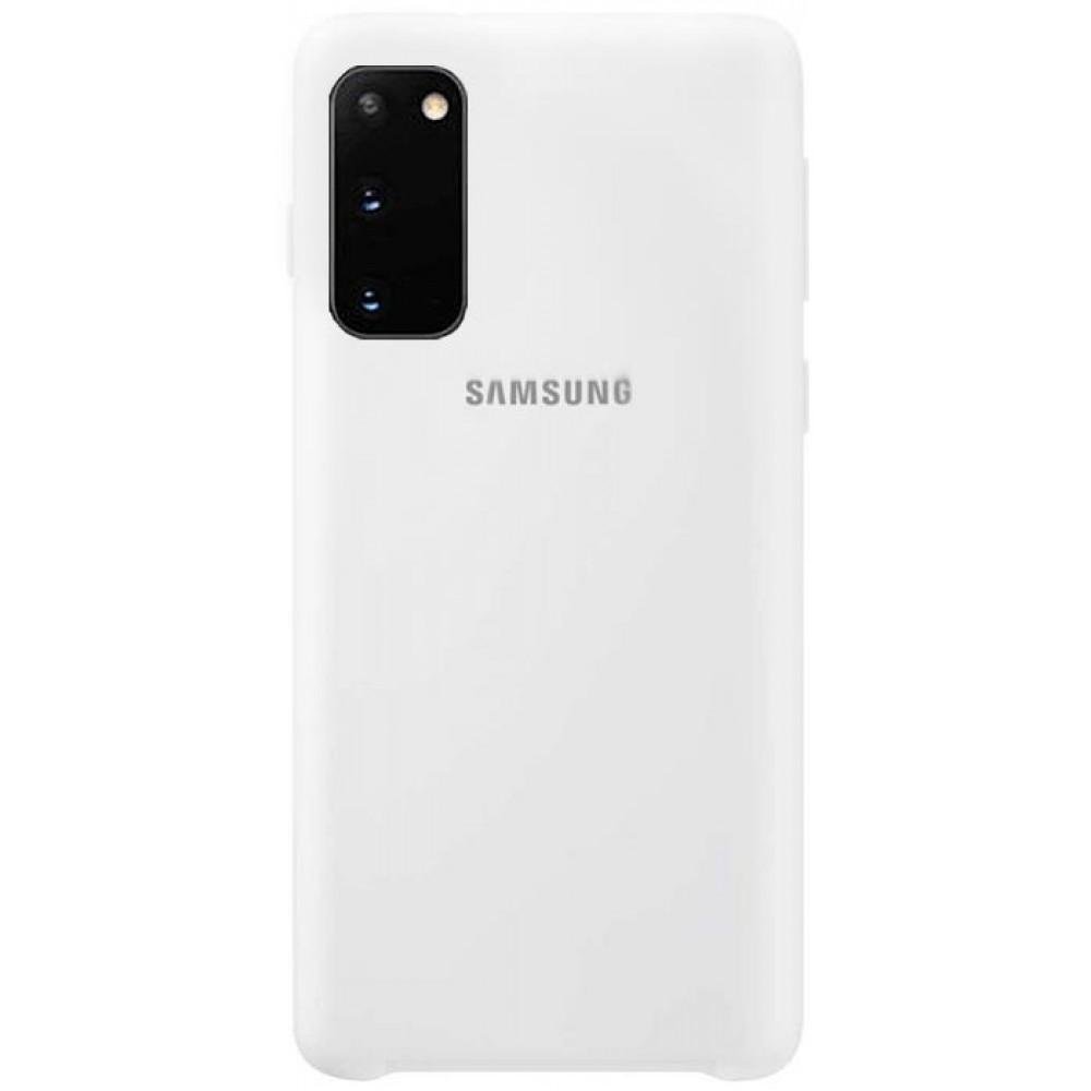 Чехол для Samsung Galaxy S20 Soft Touch белый