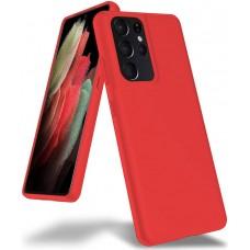 Чехол для Samsung Galaxy S21 Ultra Brono Case красный