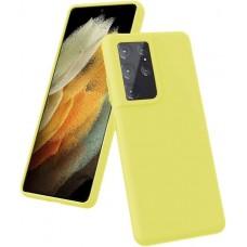 Чехол для Samsung Galaxy S21 Ultra Brono Case желтый