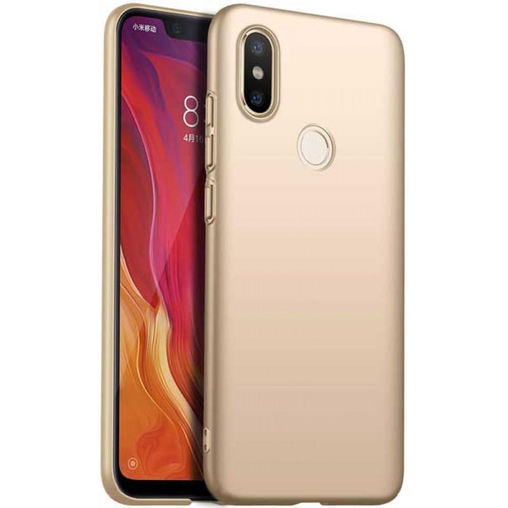 Чехол для Xiaomi Mi 8 силиконовый золотой
