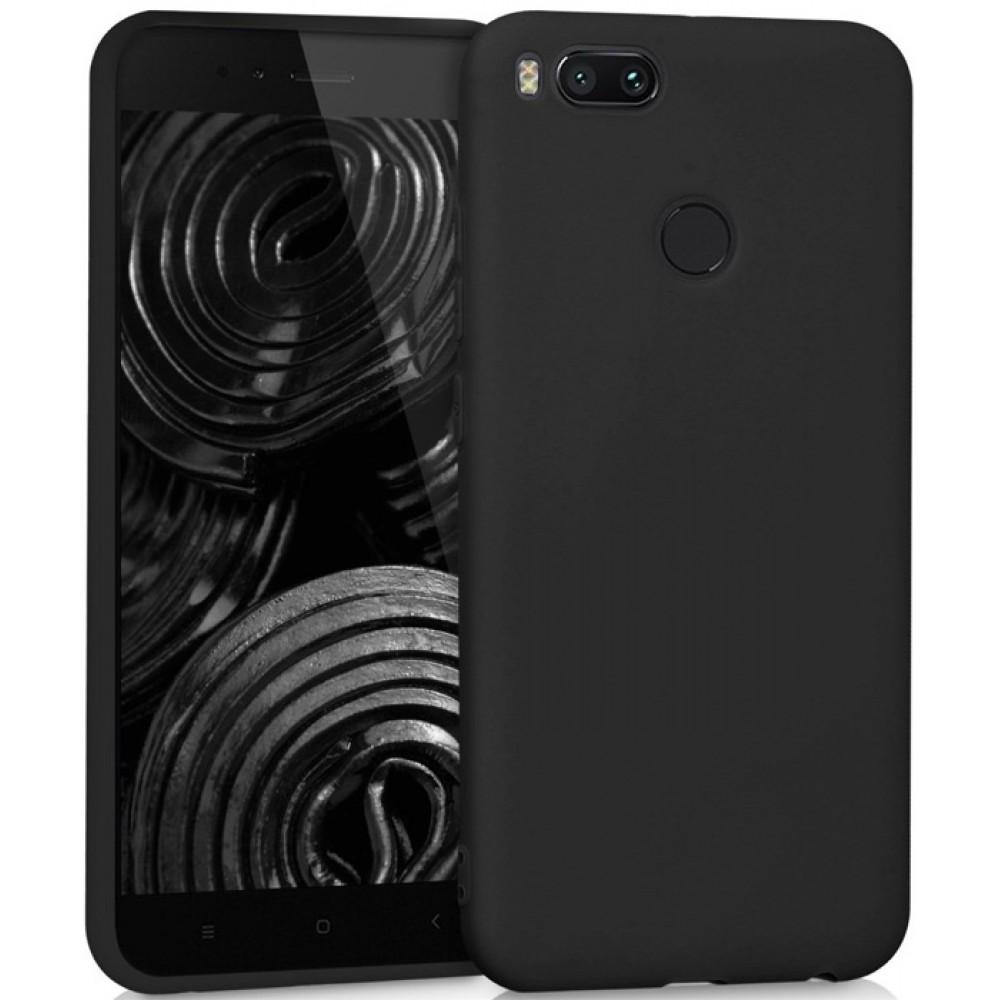Чехол для Xiaomi Mi A1, Силиконовый бампер черный