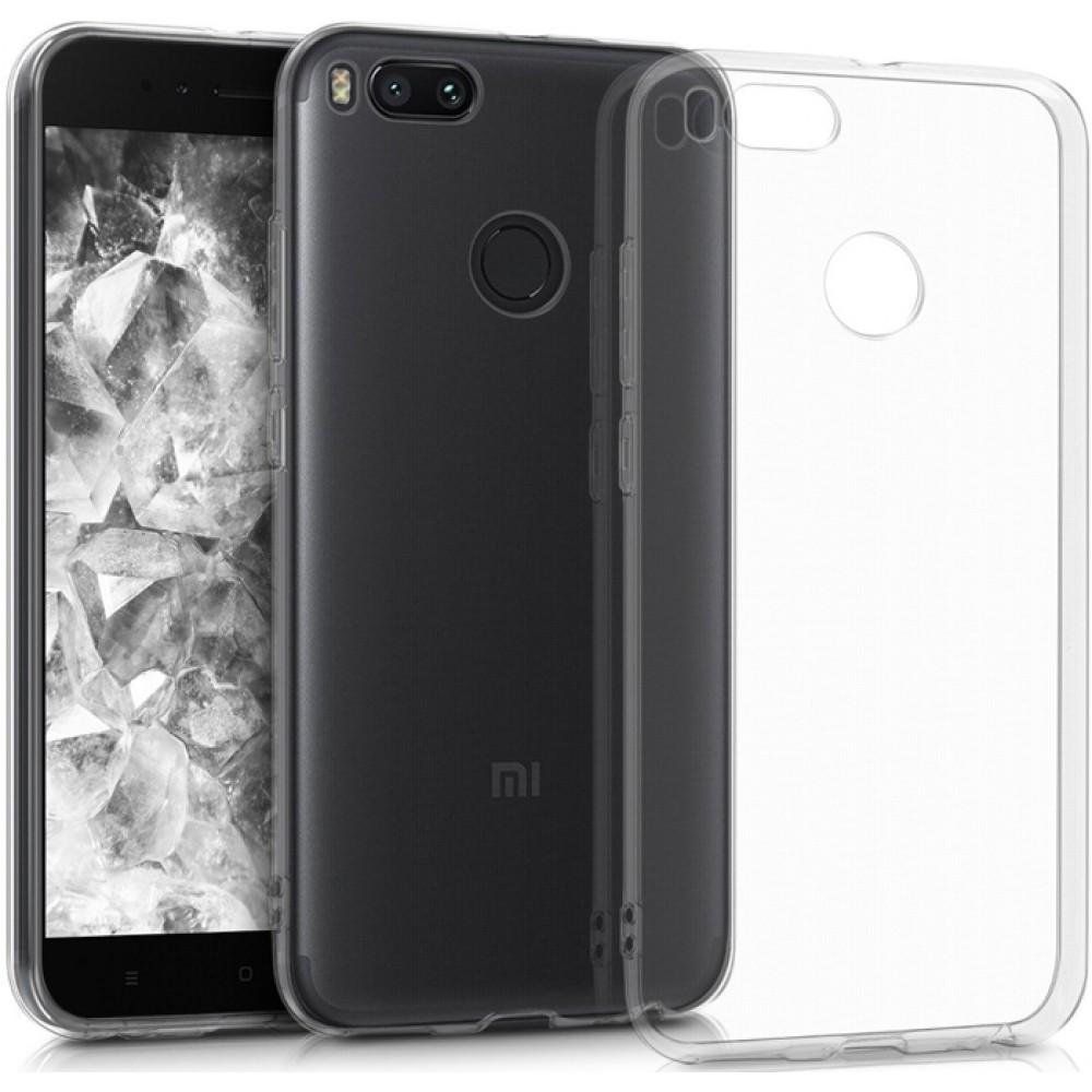 Чехол для Xiaomi Mi A1, Силиконовый бампер прозрачный