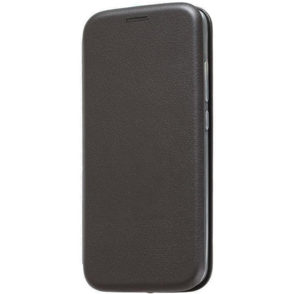 Чехол на Xiaomi Mi A2 Lite кожаный черный