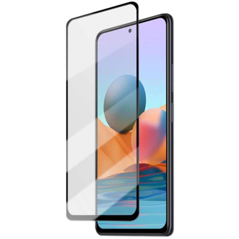 Стекло для Xiaomi Redmi Note 10 / Note 10s с черной рамкой