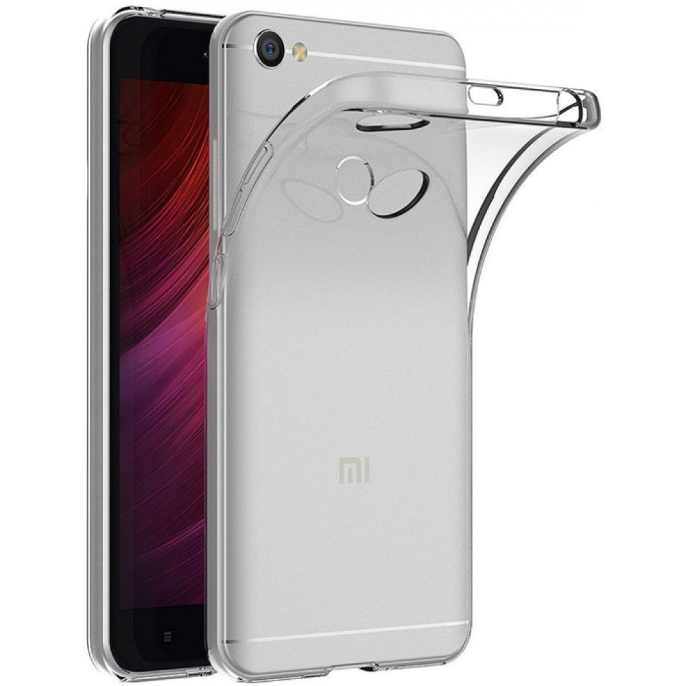 Чехол для Xiaomi Redmi Note 5A Prime, Силиконовый бампер прозрачный