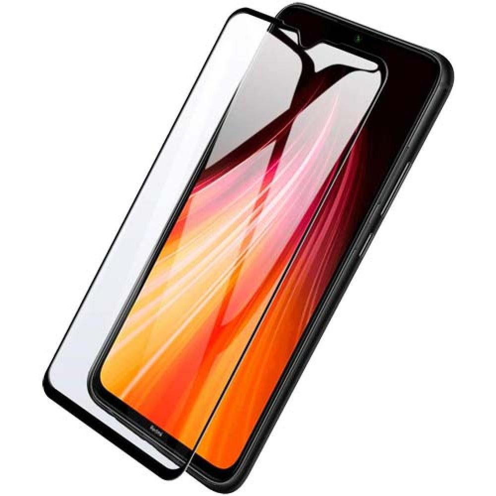 Стекло для Xiaomi Redmi Note 8 Pro с черной рамкой