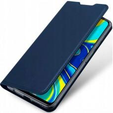 Чехол для Xiaomi Redmi Note 9S / Redmi Note 9 Pro синий кожаный