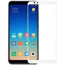 Защитное стекло на Xiaomi Redmi 5 Plus с белой рамкой