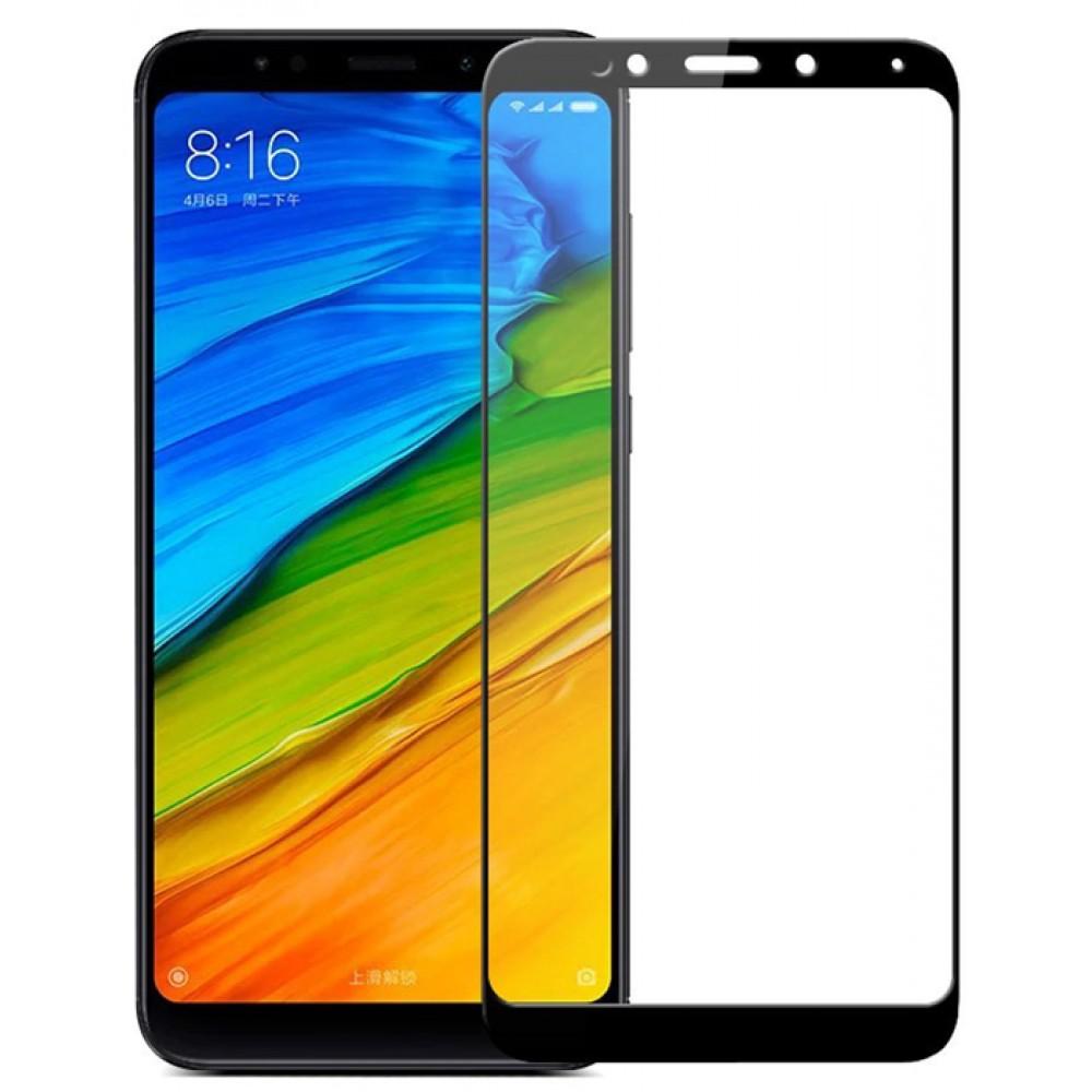Защитное стекло на Xiaomi Redmi 5 Plus с черной рамкой